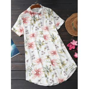 Floral Print Casual Tunic Shirt