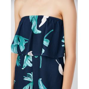 Ruffle Printed Off The Shoulder Romper -