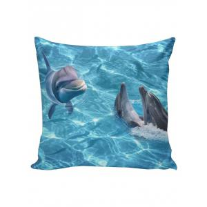 Smiling Dolphin Home Decor Linen Pillowcase