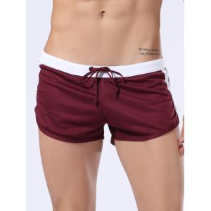 Lace Up Color Block Panel Sport Shorts