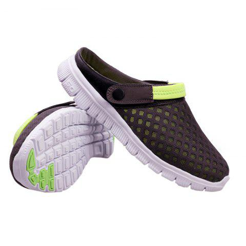 Fancy Dual Use Mesh Breathable Shoes - 47 GRAY Mobile