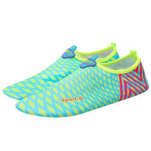 Cheap Graphic Breathable Qulick Dry Shoes - 35 GREEN Mobile
