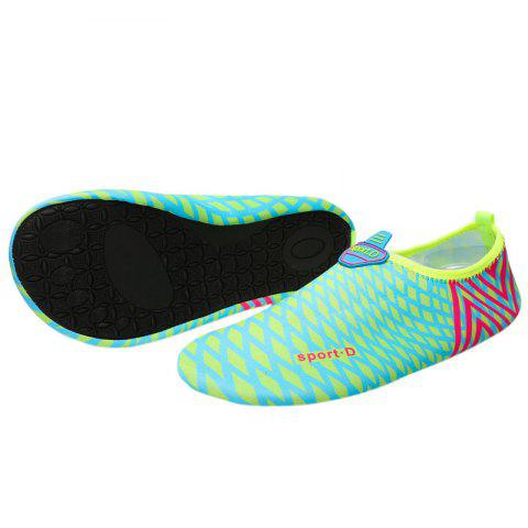 Sale Graphic Breathable Qulick Dry Shoes - 35 GREEN Mobile