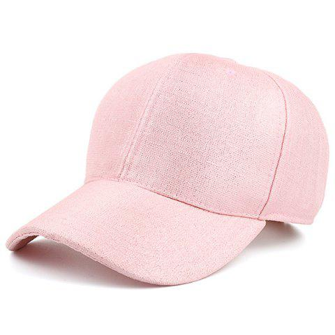Affordable Outdoor Cannetille Fabric Baseball Cap PINK