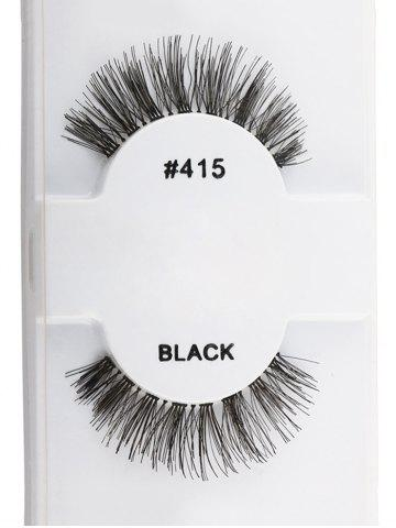 Fashion 1 Pair Natural Dense False Eyelashes BLACK