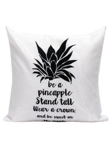 Fashion Pineapple Letter Linen Cushion Pillow Case - 45*45CM WHITE Mobile
