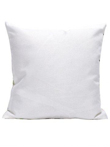Outfit Pineapple Letter Linen Cushion Pillow Case - 45*45CM WHITE Mobile