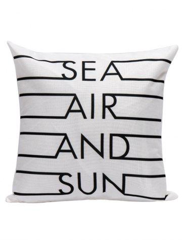Letter Printed Decorative Throw Pillow Cover - White - 45*45cm