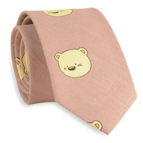 Chic Novelty Bear Pattern Tie