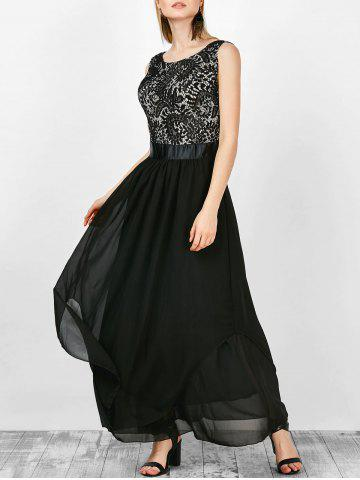 Buy Formal Sleeveless Asymmetric Lace Maxi Prom Dresses