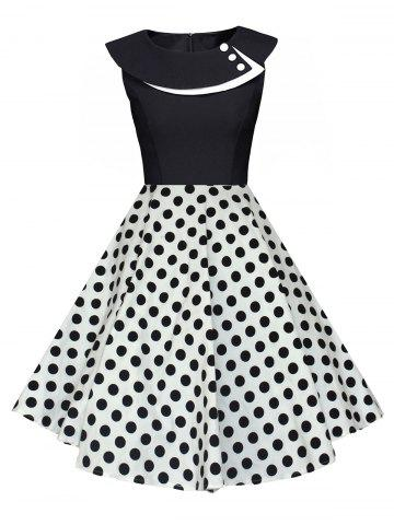 Trendy Polka Dot Swing Pin Up A Line Dress