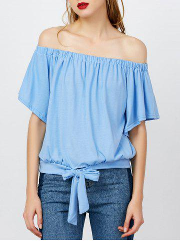 Latest Off The Shoulder Tied Front Top