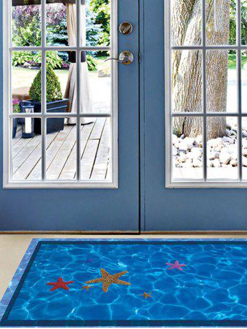 Sale Starfish with Swimming Pool Pattern 3D Toilet Floor Stickers - BLUE  Mobile