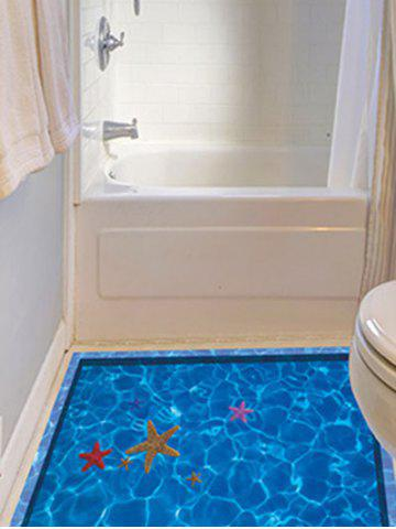 Outfits Starfish with Swimming Pool Pattern 3D Toilet Floor Stickers - BLUE  Mobile
