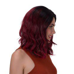 Stunning Black Ombre Wine Red Synthetic Fluffy Wave Long Adiors Wig For Women