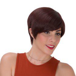 Stylish Short Dark Brown Synthetic Straight Capless Adiors Wig For Women