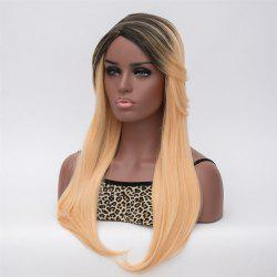 Gorgeous Long Synthetic Black Blonde Ombre Capless Adiors Wig For Women