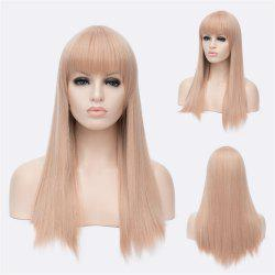 Impressive Long Offwhite Straight Full Bang Women's Synthetic Wig