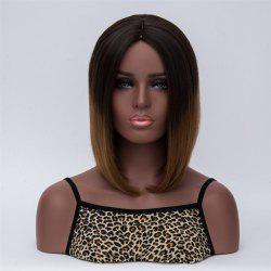 Medium Middle Part Natural Straight Synthetic Wig
