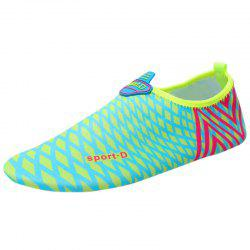 Graphic Breathable Qulick Dry Shoes - GREEN 35