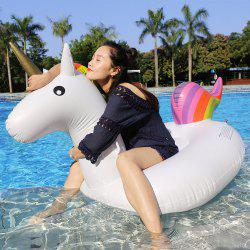 Inflatable PVC Unicorn Shape Floating Row - WHITE