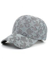 Lace Mesh Pentagram Embellished Baseball Hat