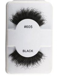 1 Pair Lengthen Dense Fake Eyelashes - BLACK