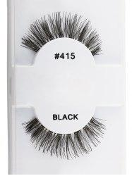 1 Pair Natural Dense False Eyelashes - BLACK