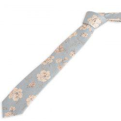 Vintage Flowers Printed Neck Tie