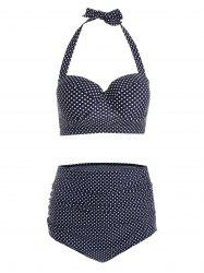 Vintage High Waisted Plus Size Polka Dot Bikini