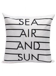 Letter Printed Decorative Throw Pillow Cover