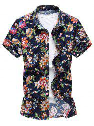 Short Sleeve Flower Hawaiian Shirt