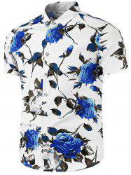 Casual Shirt with Flower Print