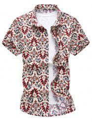 Slim Fit Flower Casual Shirt