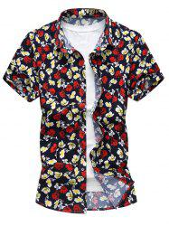 Allover Floral Print Short Sleeve Shirt