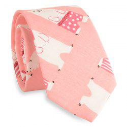 Cartoon Polar Bear Printed Neck Tie