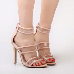 Zipper Transparent Plastic Sandals