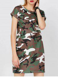 Mini Camo T-Shirt Dress