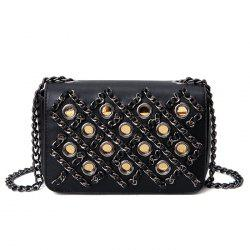 Chains Eyelet Cross Body Bag