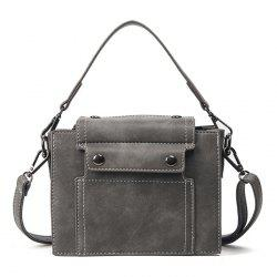 Faux Leather Stitching Cross Body Bag