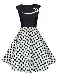 Polka Dot Pin Dress Up - Blanc