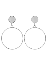 Disc Circle Earrings