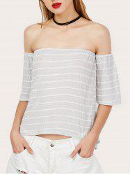 Off The Shoulder Stripe Tee