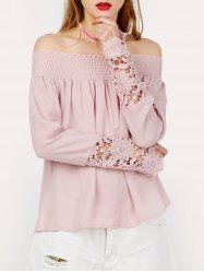Lace Panel Off The Shoulder Top -