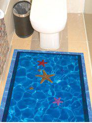 Starfish with Swimming Pool Pattern 3D Toilet Floor Stickers