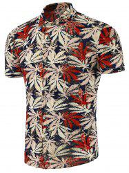 Leaf Print Slim Fit Shirt