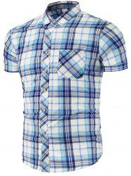 Pocket Chest Plaid Shirt