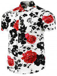 Flower Painted Short Sleeve Shirt