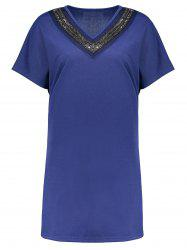 Plus Size Sequin Tunic Top