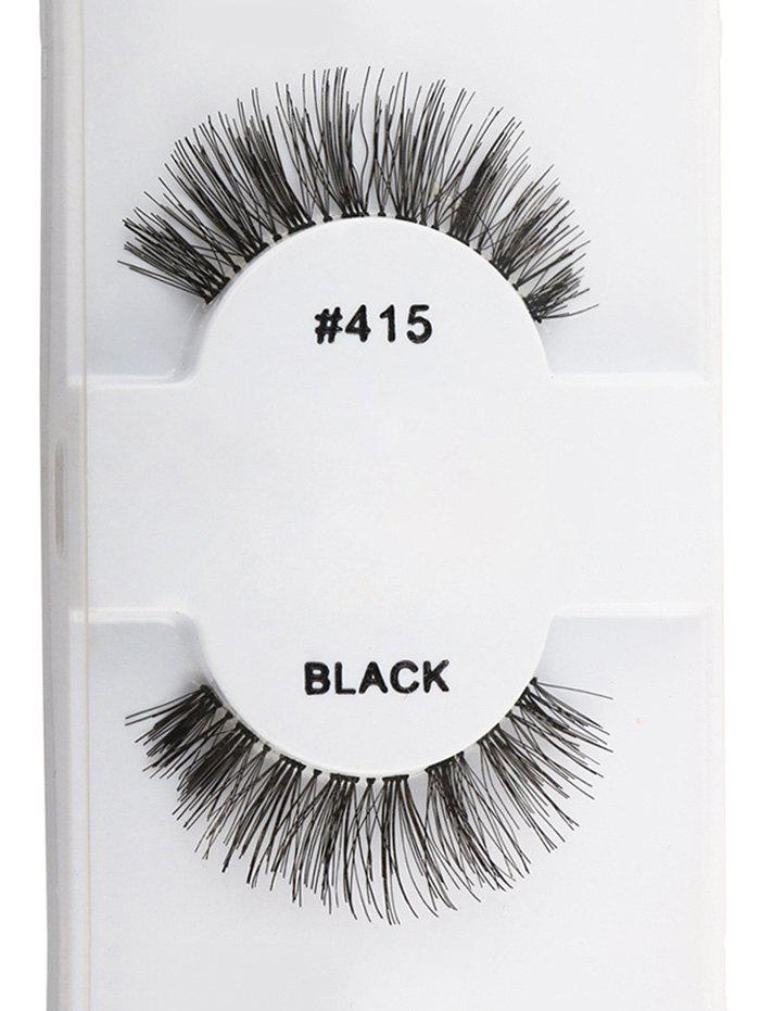1 Pair Natural Dense False EyelashesBEAUTY<br><br>Color: BLACK; Category: False Eyelashes; Brush Hair Material: Synthetic Hair; Features: Professional; Season: Fall,Spring,Summer,Winter; Weight: 0.0130kg; Package Contents: 1 x False Eyelashes (Pair);